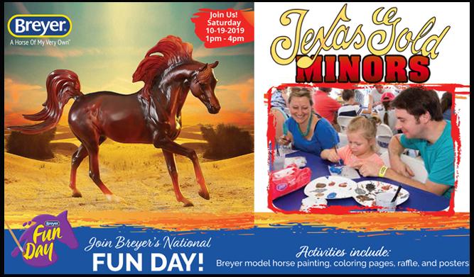 Breyer's National Fun Day @Texas Gold Minors